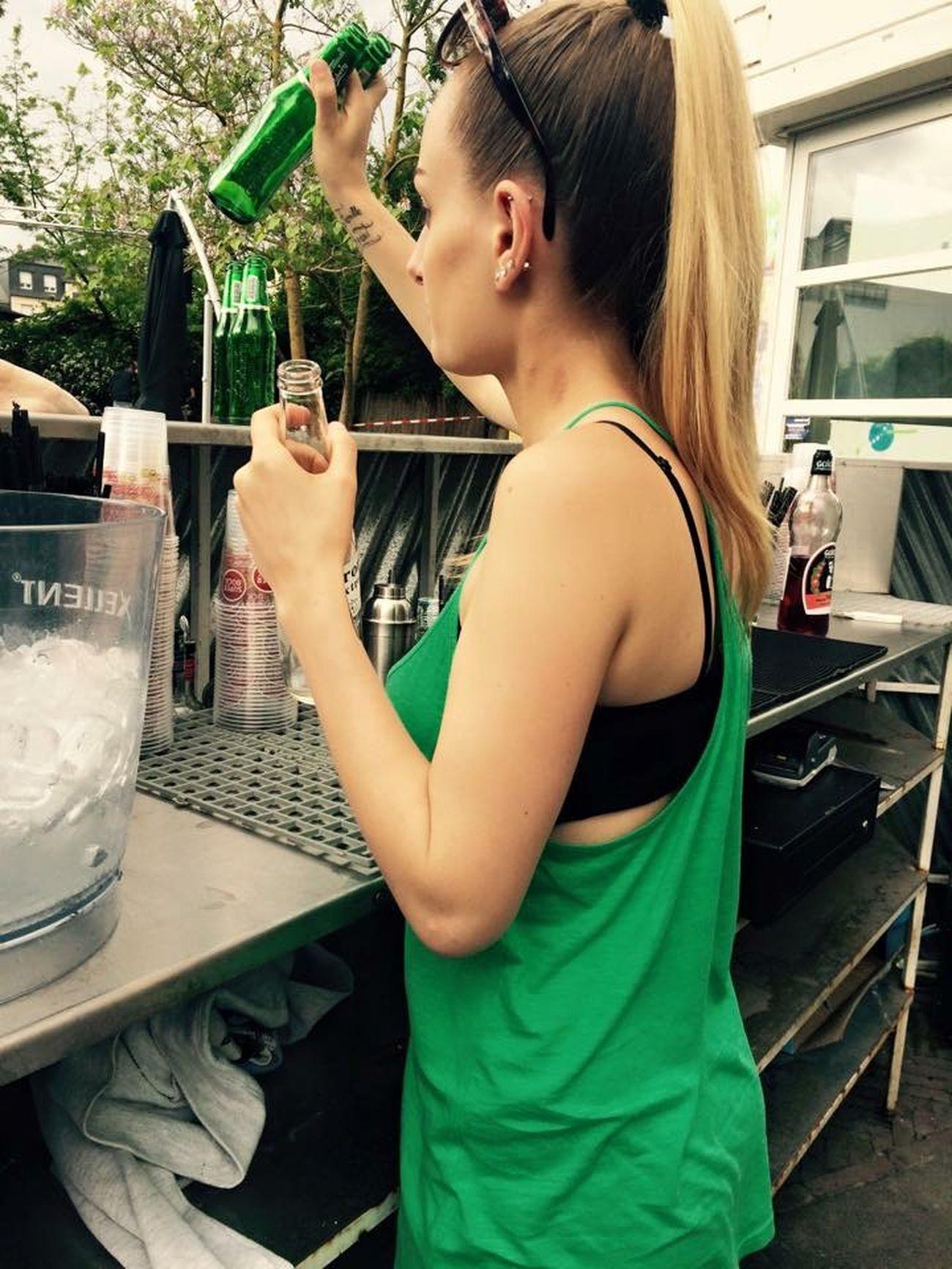 Barmaid Bar Barman Waitress Sunday Green