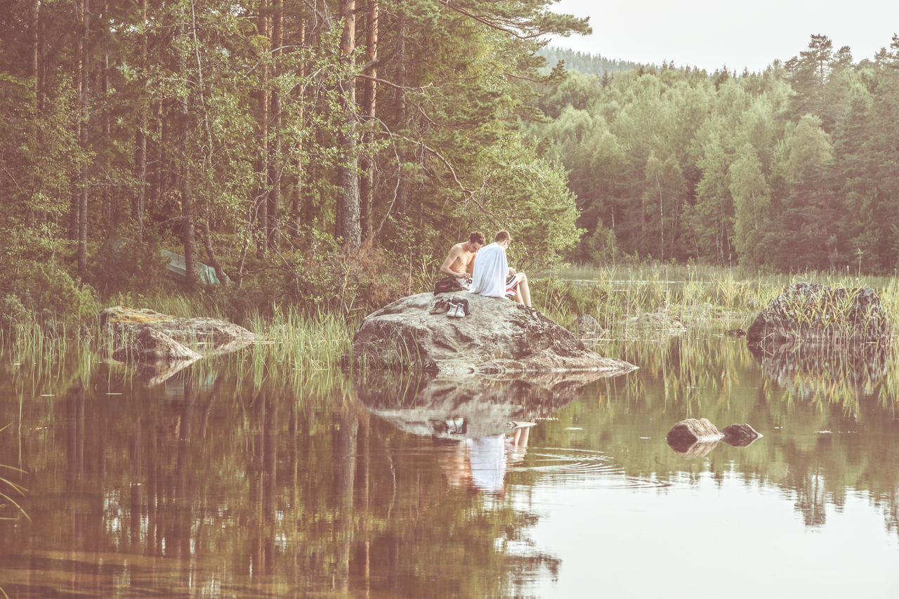 Relaxing Moment Beauty In Nature Day Gettyimages Human And Nature Human Representation Lake Landscape Landscape_Collection Landscape_photography Nature Reflection Relaxing Relaxing Time Scenics Sweden Tranquil Scene Tranquility Tranquility Traveling Tree Vintage Vintage Photo Water Waterfront Landscape With Whitewall TCPM The Great Outdoors - 2017 EyeEm Awards