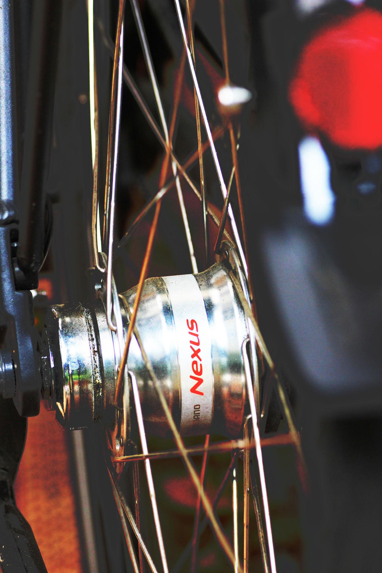 Bicycle Chain Bicycle Hub Close-up Detail Of Bicycle Metal Hub Metallic Relaxing Spokes