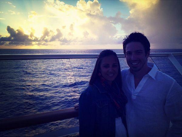 Husband. Sunset