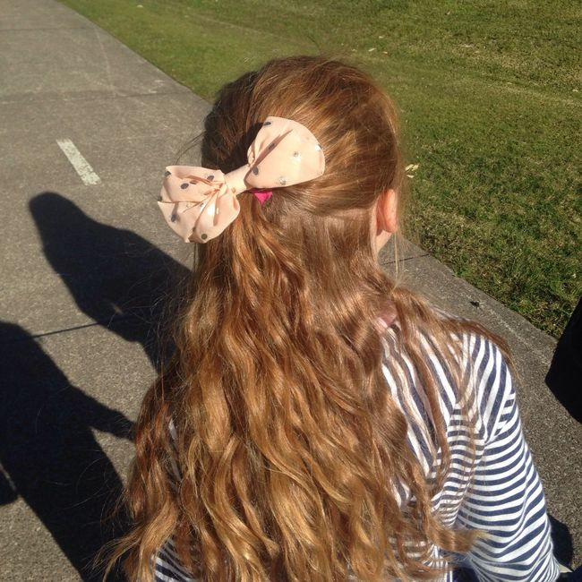 Isabella. Long Hair Red Hair Child Young Kid Girl Grass