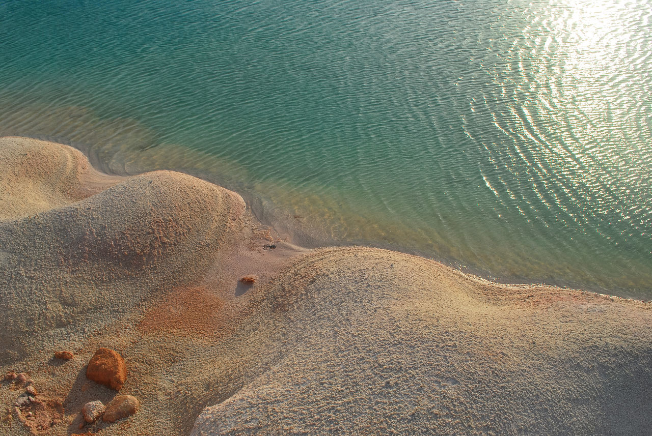 Love is Nature Nature Beauty In Nature Sand Water Outdoors Tranquility Scenics Abstract Close-up Refraction Lake Sunshine Light Minimalist Minimalist Photography  Art Ilustration Backgrounds Water_collection Water Sunbeam Full Frame