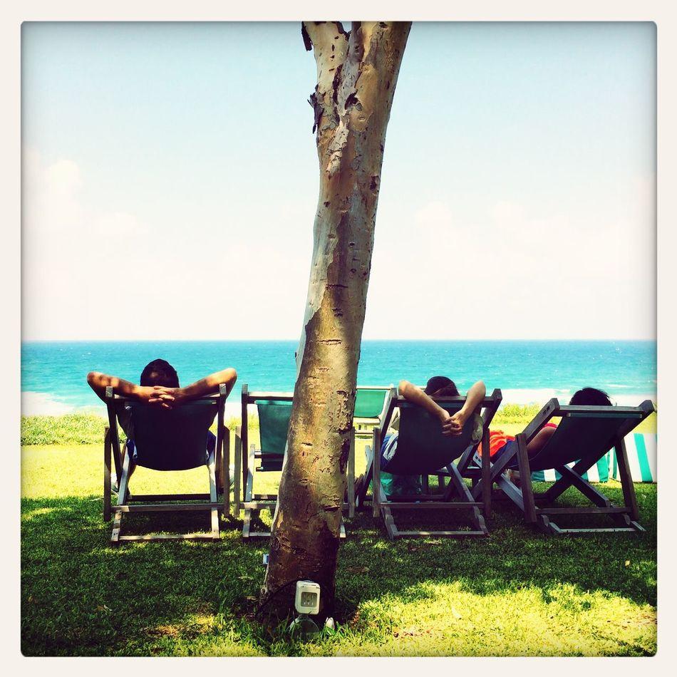 Enjoying The Sun Sunshine Beach Relaxing
