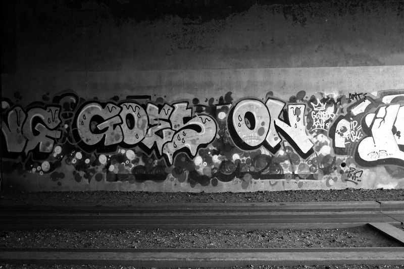 Life does that indeed. People too. Everyone in fact. Black And White Goeson Graffiti Lifequotes Quote Of The Day  Rails Street Art/Graffiti Streetart StreetArtEverywhere
