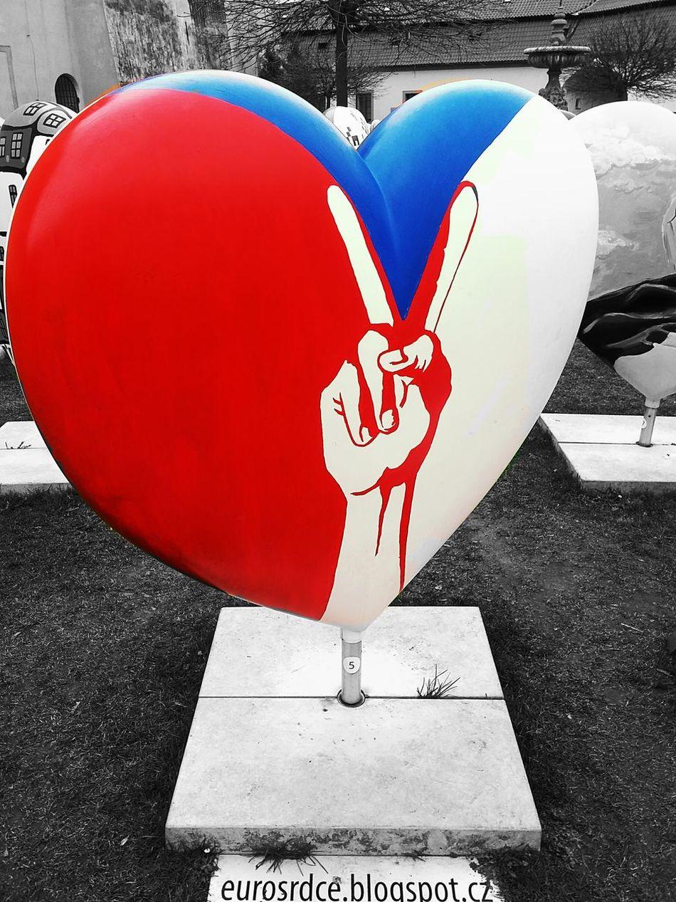 Czech Republic Euro Heart ArtWork Art, Drawing, Creativity Art