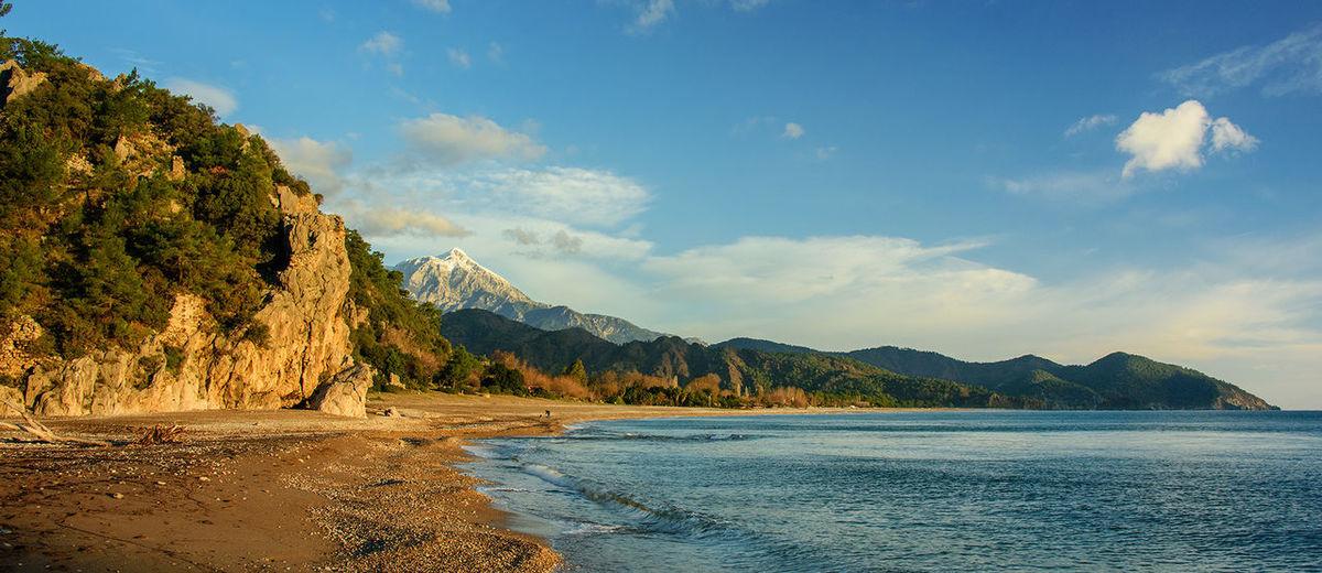 Cirali beach from Olympos ancient ruins. Mediterranean  Olympos Turkey çıralı First Eyeem Photo