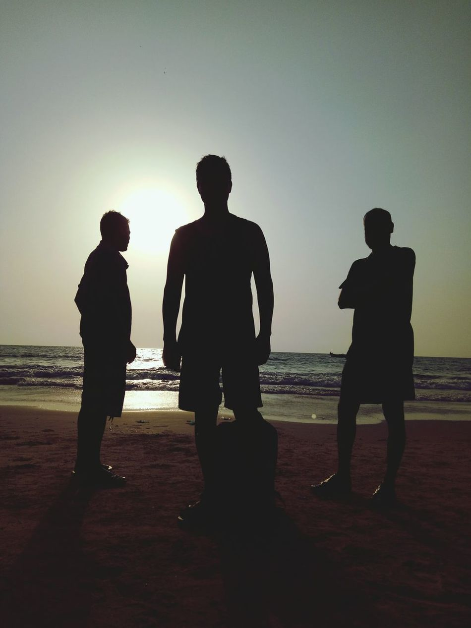 Beach Silhouette Sand Togetherness Full Length Adult People Men Adults Only Sea Standing Water Day Sunset Outdoors Young Adult Only Men Vacations Beachtime Friendship Sky Walking Bonding Full Frame Travelling Photography
