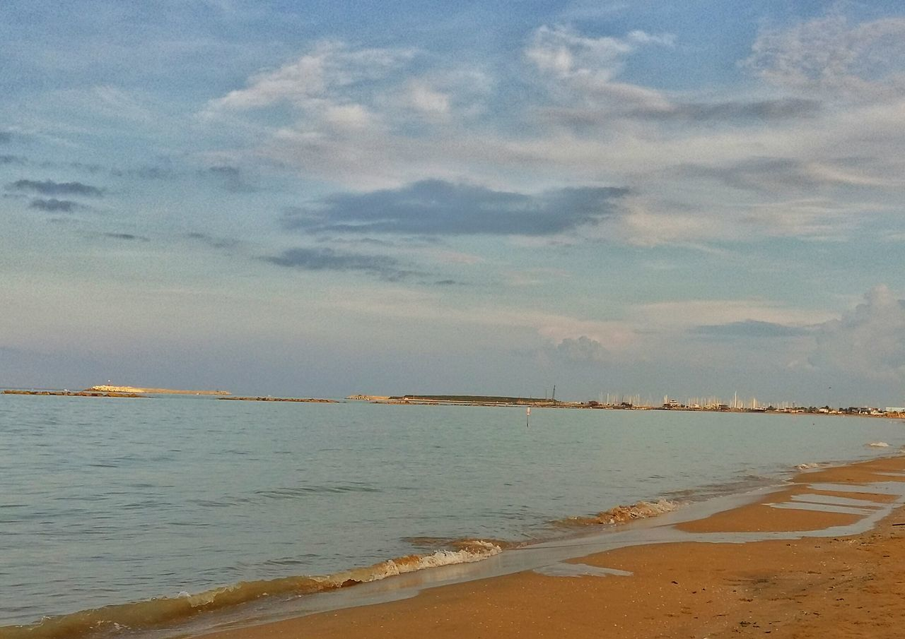 My Favorite Place Beach Sea Tranquil Scene Sand Tranquility Scenics Tourism Travel Destinations VacationsWater Nature No People Go Away Outdoors Beauty In Nature Calm Coastline Non-urban Scene Coastal Feature Pescara Abruzzo - Italy Italy
