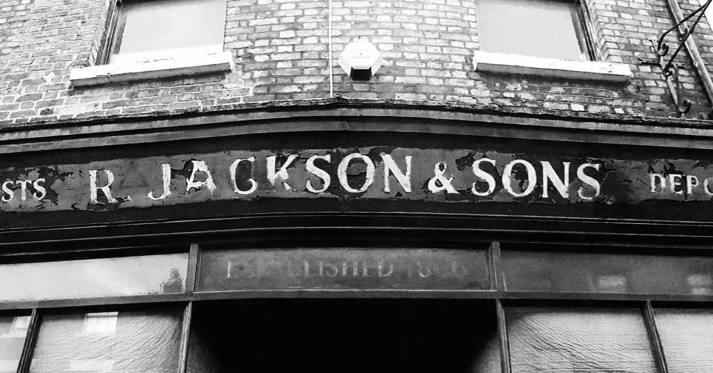 Shop Front Old Black And White Liverpool Historic Art Supplies