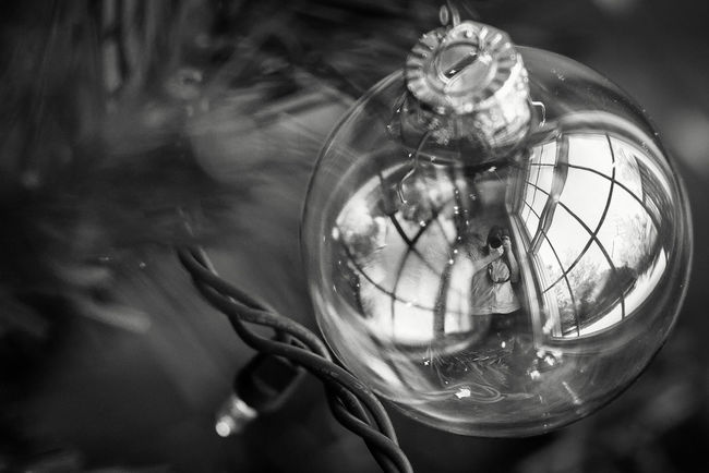 Window Ornament BnW Close-up Day Extreme Close-up Focus On Foreground Fragility Glass - Material Man Made Object Monochrome Photography No People Reflection The Culture Of The Holidays Transparent