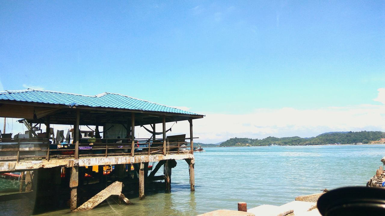 Jetty Sea Water Nature Beauty In Nature Blue Sky Architecture Jetty View Ocean Island Fishermenvillage Fishermen's Life