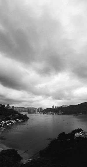 Black And White Monochrome IPhoneography Light And Shadow Building And Sky Hong Kong Architecture Vertical Panorama Building Exterior Serenity Caught In The Moment Hong Kong Skyline