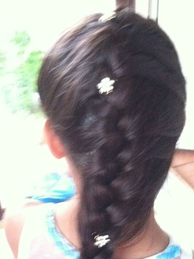 Baby Sis French Braid Adorable Dressy Growing Up So Fast