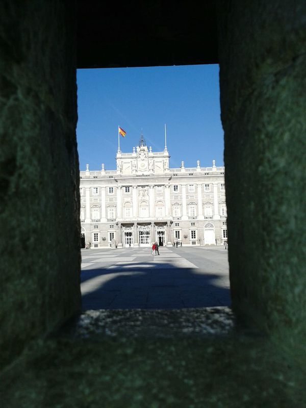 Royal Palace of Madrid from sentinels window, 2013 Eurotrip (MADRID - SPAIN) EyeEmNewHere Royal Residence Spain🇪🇸 Outdoors Day Madrid Travel Destinations Building Exterior Built Structure Tourism History