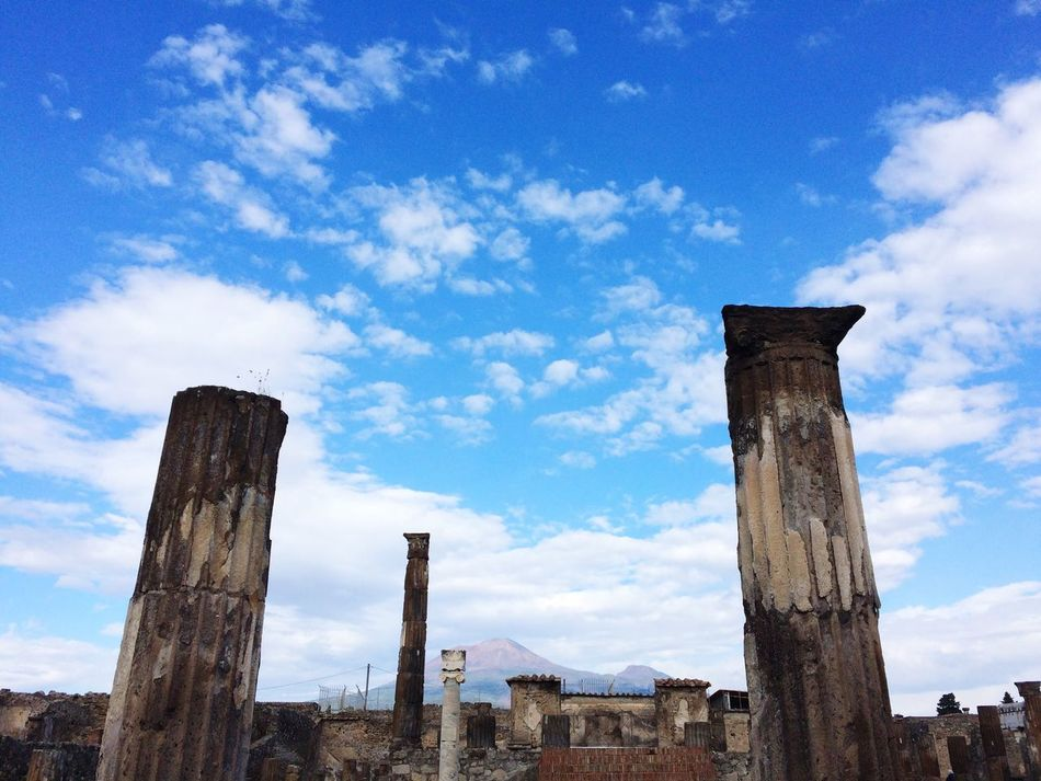 Beautiful stock photos of pompeii, Architectural Column, Architecture, Bad Condition, Built Structure