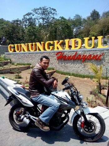 biimmm... biimmm That's Me Enjoying Life Motorcyle Motorcycles Bikers Biker INDONESIA Gunungkidul
