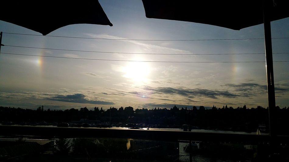 Sun Dog. Sundog Seattle Eastlake Washington Sky