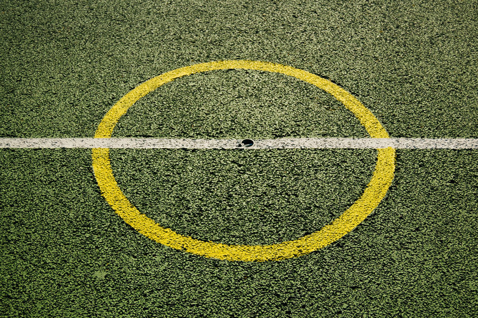 Artificial Grass Backgrounds Circle Close-up Day No People Outdoors Textured  White Line Yellow Astro Turf Line Marking