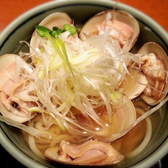 ハマグリ うどん Wheatnoodle Clam lunch和食Japanesefood
