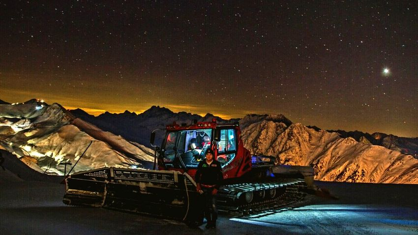 Night Mountain Mode Of Transport Landscape Science One Person Star - Space Astronomy Beauty In Nature Nature Outdoors Galaxy Space Sky People