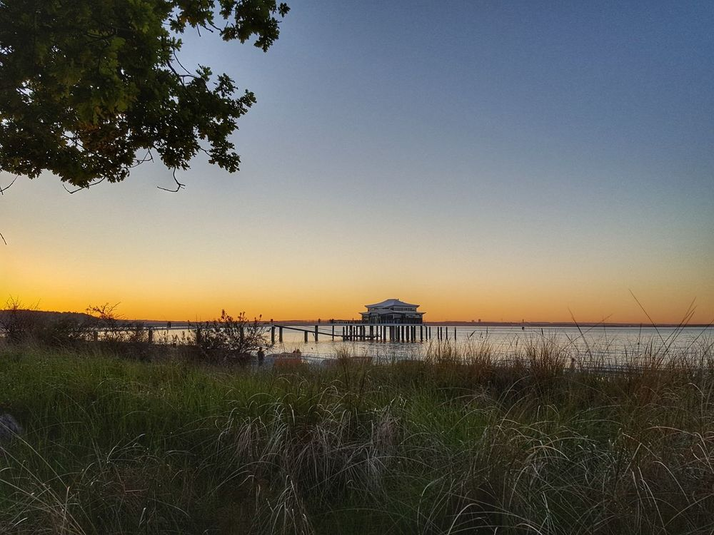Timmendorf Timmendorferstrand Sky Outdoors Nature Sunset Tree Water Beauty In Nature No People Grass Tranquility Sea Scenics Landscape Beach Rural Scene Horizon Over Water Day
