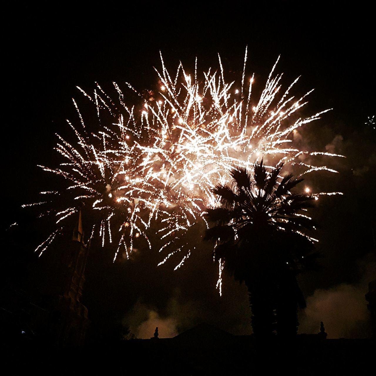 Celebration Night Low Angle View Sparks Majestic Motion Justfeelit Sky Glowing Dark
