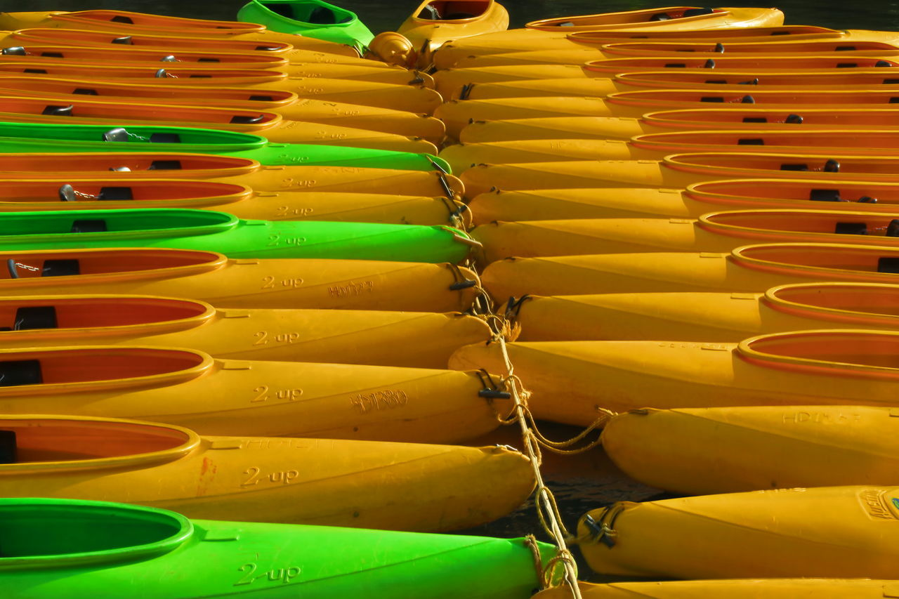 Day out at Katherine Gorge. Abundance Active Australia Canoe Choice Close-up Colors Day EyeEm Best Shots For Sale Green Color Indoors  Large Group Of Objects Lifestyles Multi Colored No People Outdoors Pattern Retail  Sport Stack Variation Weather Yellow Yellow Color