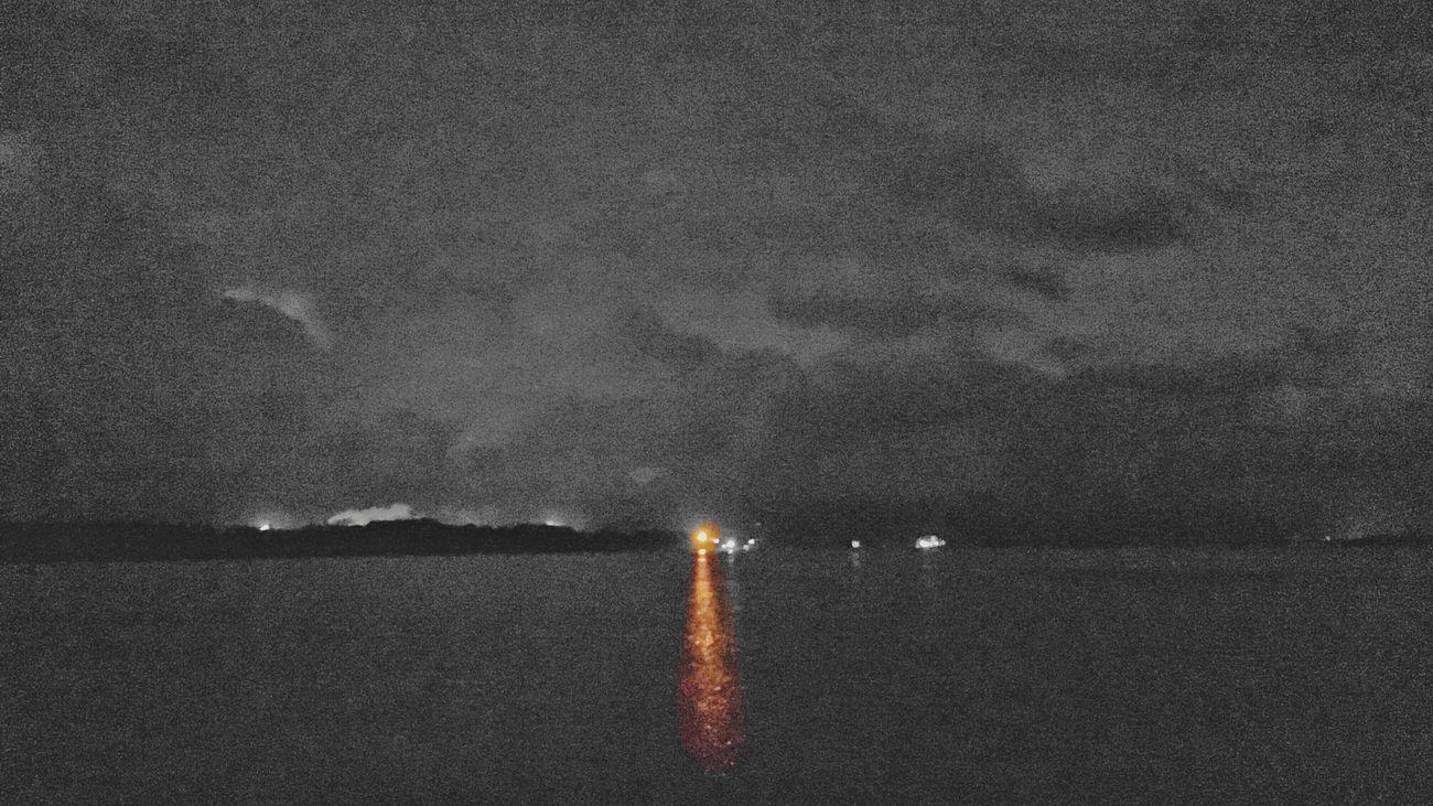 Night Outdoors No People Illuminated Sky Water Nature Scenics Sea