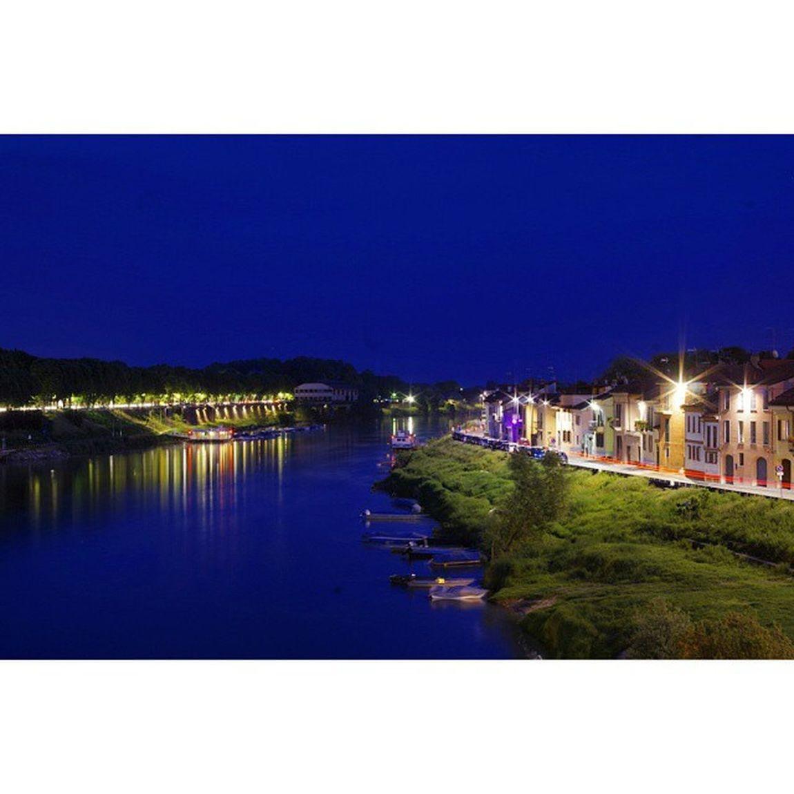 Pentax K50 50mm Photo Photographer Photograph Pavia Borgo Ticino Pianura Padana Blue Hour Light Reflex Night Water Pontecopertopavia Bridge Italy Italia