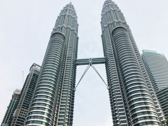 Malaysia Photography IPhoneography Panorama Petronas Twin Towers Walkway Kuala Lumpur Twin Tower City Travel Destinations Skyscraper Business Finance And Industry Architecture Travel Tower History No People Day Cloud - Sky Outdoors Sky Urban Skyline Cityscape Lovetotravel
