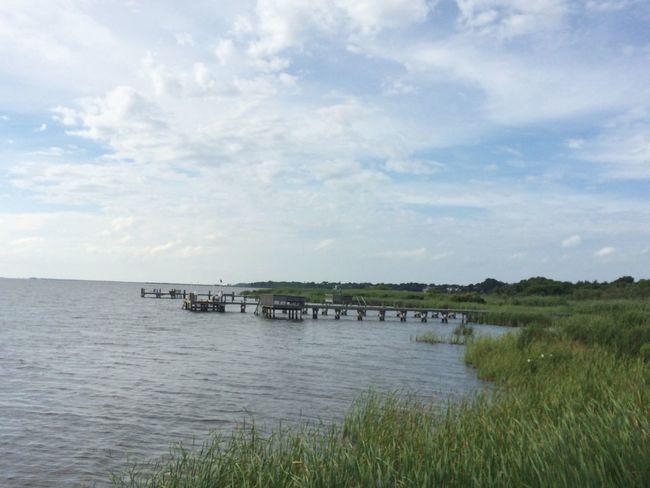 Corolla NC Outer Banks, NC OBX Soundside Pier Blue Sky
