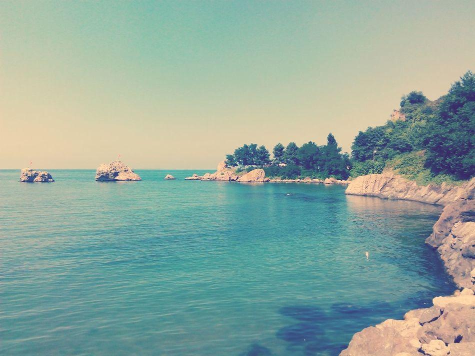 Blue Sea And Sky Peaceful.☁☁ :)