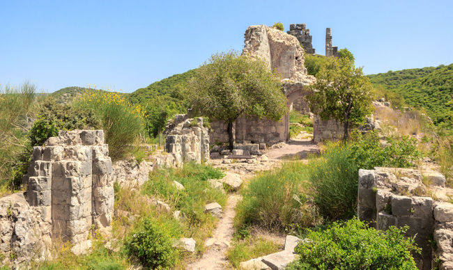 Ancient Archaeology Architecture Architecture Built Structure Castle Color Cultures Famous Place Fort Fortified History Israel Material Monfort Object Old Old Ruin Ruined Stone Stone Material Temple - Building The Past Tourism Tower