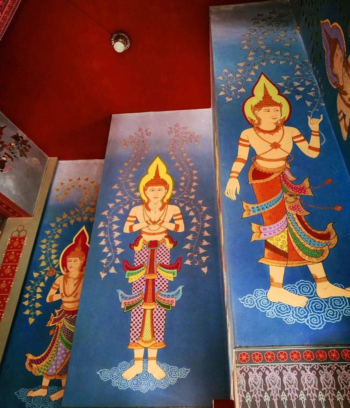 Painting Angel Painting. Thai Painting Religion No People Indoors
