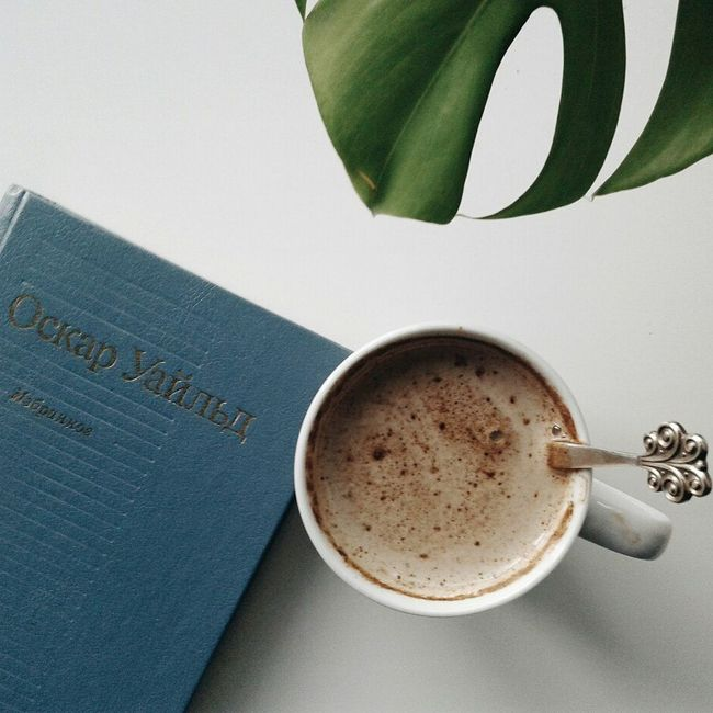 Coffee Coffee Break Followme Likeme Like Vscocam Colour Of Life Monstera Plants Plant Green Vscorussia Spb Spbgram Russia Lovely Beauty VSCO Book Books Oscarwilde Follow Art