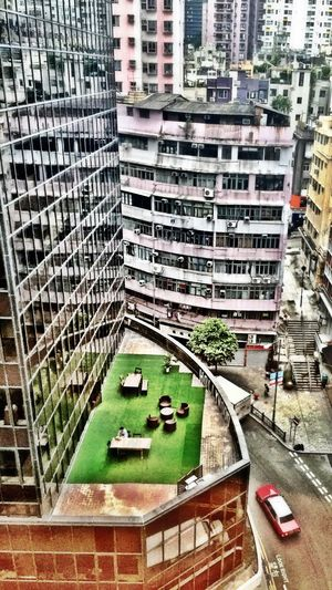 A private office with a view HongKong Central Hong Kong Terrace People At Work Hong Kong Watching People Taking Photos From Above  IPhoneography Urban Jungle Roof Top Desk Workaholic From My Window Hollywood Road