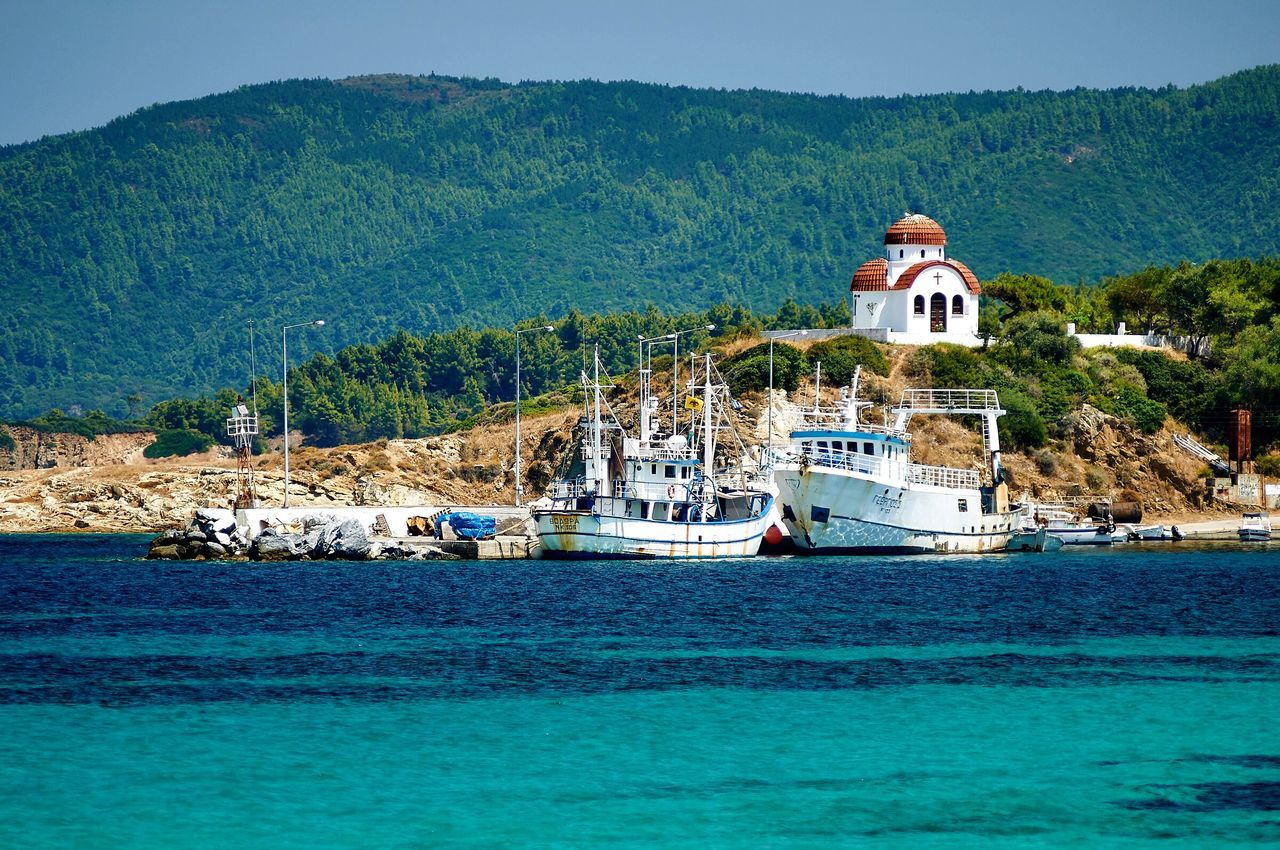 Beautiful stock photos of greece, Architecture, Blue, Boat, Built Structure