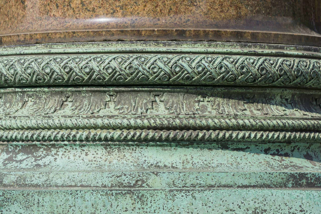 Patina covered part of column at Charlottenburg Palace in Berlin, Germany Architecture Backgrounds Berlin Charlottenburg Palace Close-up Color Image Column Day Full Frame Germany🇩🇪 Horizontal No People Outdoors Pattern Photography Pillar Textured