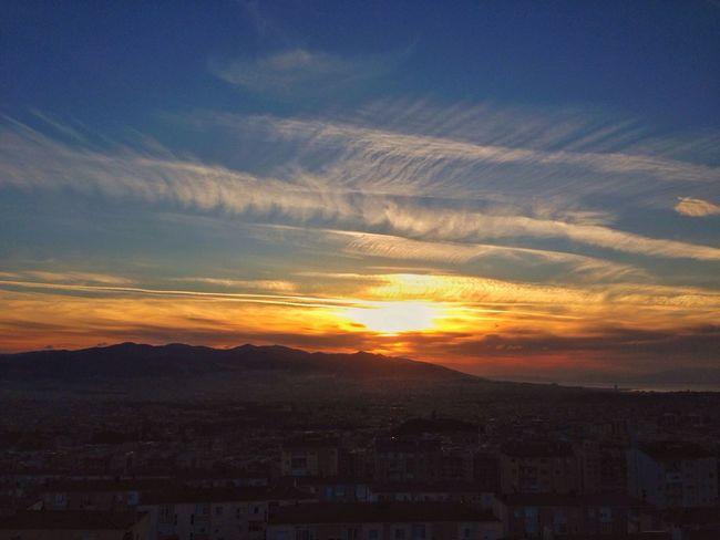Bu akşam penceremden... Mywindow Sunset Sunset_collection Sunsetizmir Clouds And Sky Landscape Izmir Turkey Türkiye