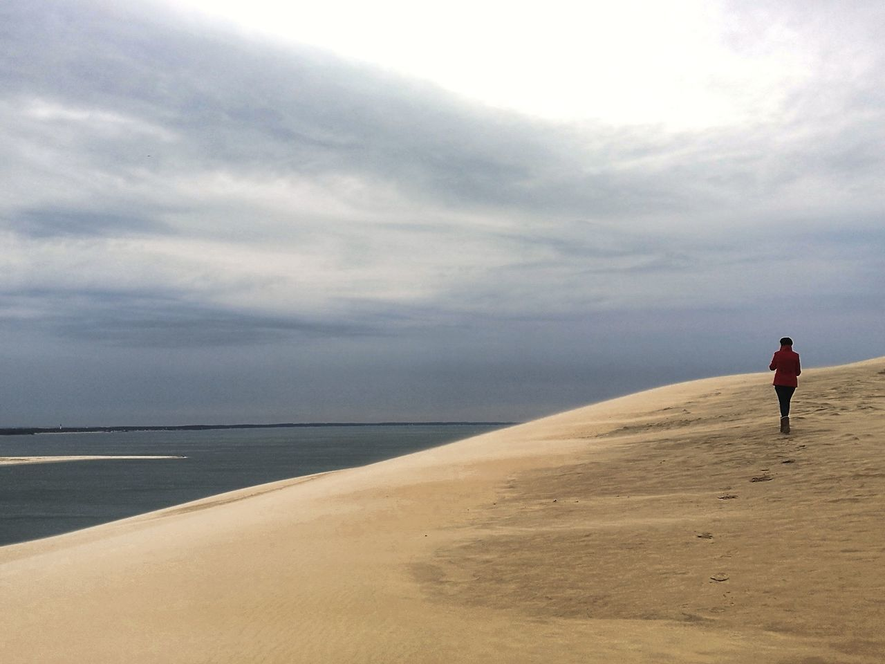 Beach Full Length Sea Outdoors Mature Adult Horizon Over Water Adults Only Sand Cloud - Sky One Person Adult Vacations Sky People Day Only Men Nature One Man Only Beauty In Nature Beach Coast Dune Du Pyla France Sand