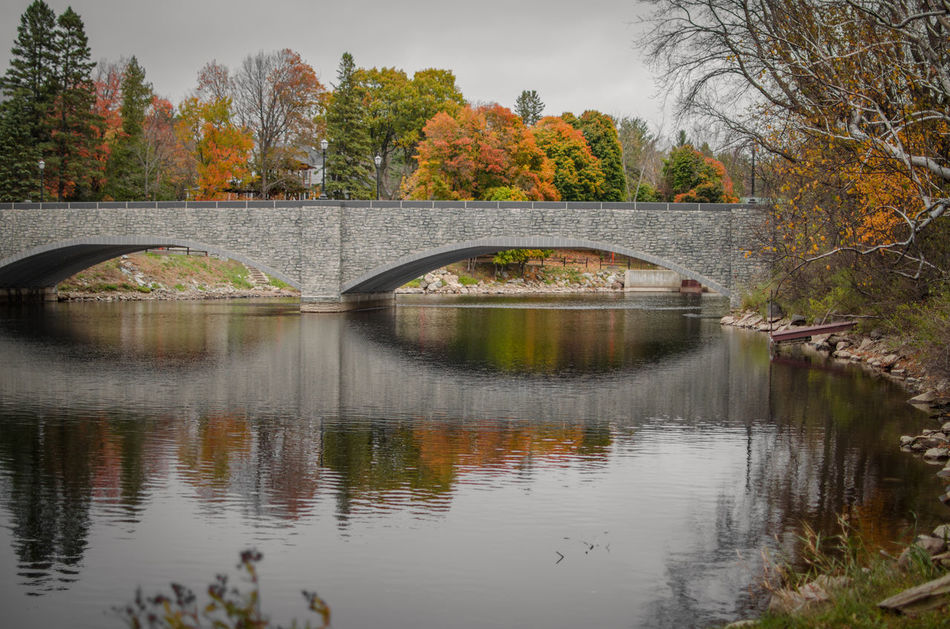 Maine Reflection Water Reflection Water Tree Nature No People Lake Sky Outdoors Day Hello World Nature Beautiful Beauty Tree Photography Pine Outside Photography Beauty In Nature Awesome_nature_shots Landscape Bridge Fall Leaves