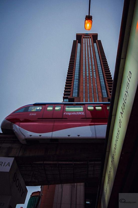 Moving Up Architecture Cityscapes Urbanscape Buildings Kuala Lumpur RapidKL Berjaya Times Square Monorail