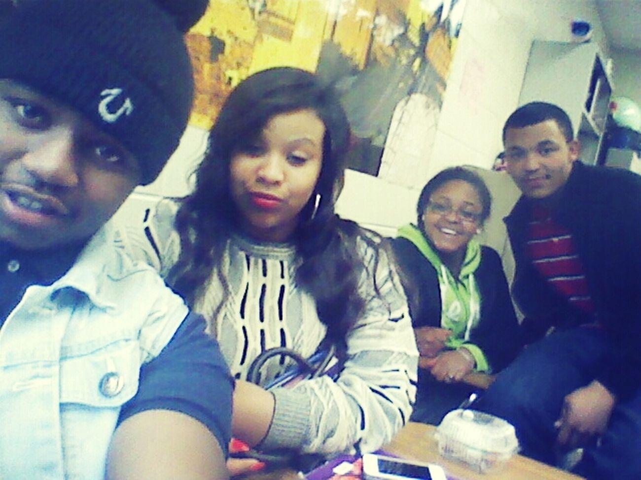 me and my niggas up in class