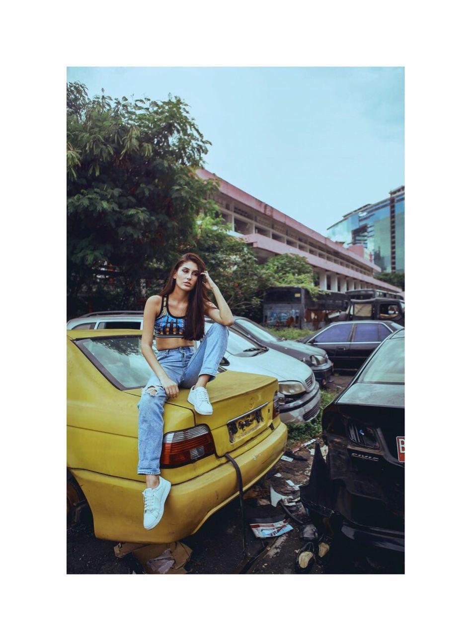 hello Any Alves Kemayoran Jakarta Girl Woman Fashion Photography Fashion Model Fashion Beauty Women Streetphoto City Car Junkyard