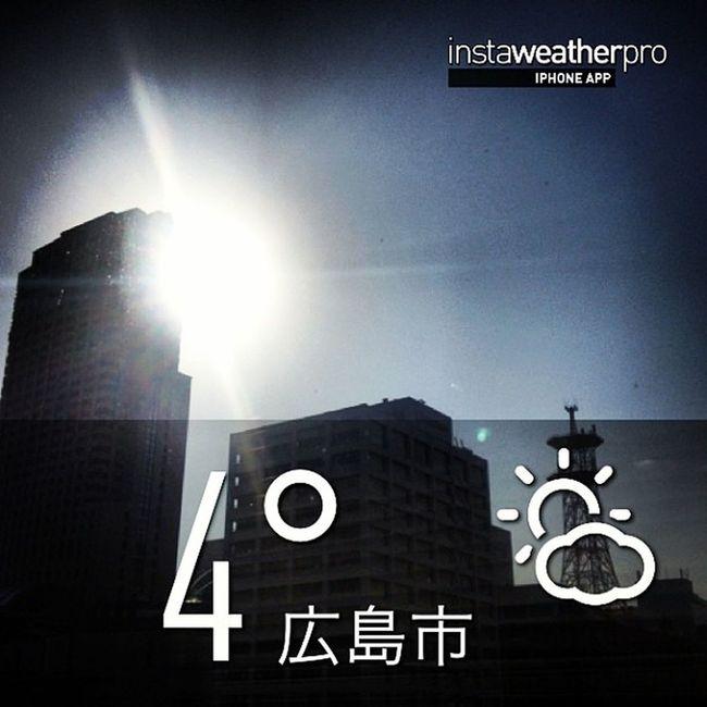 今日の天気\(^o^)/Weather Sky Instaweather Instaweatherpro Outdoors Nature 広島市 Hiroshimashi Japan Day Winter Skypainters Cold Hiroshimaprefecture