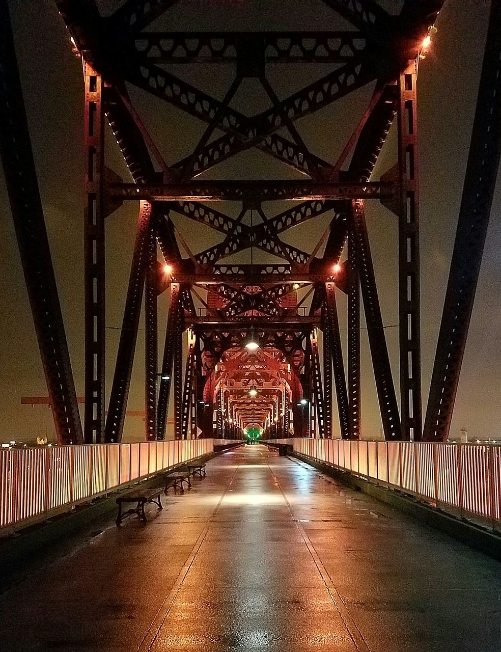 the way forward, diminishing perspective, bridge - man made structure, connection, illuminated, engineering, night, architecture, built structure, transportation, outdoors, no people, underneath