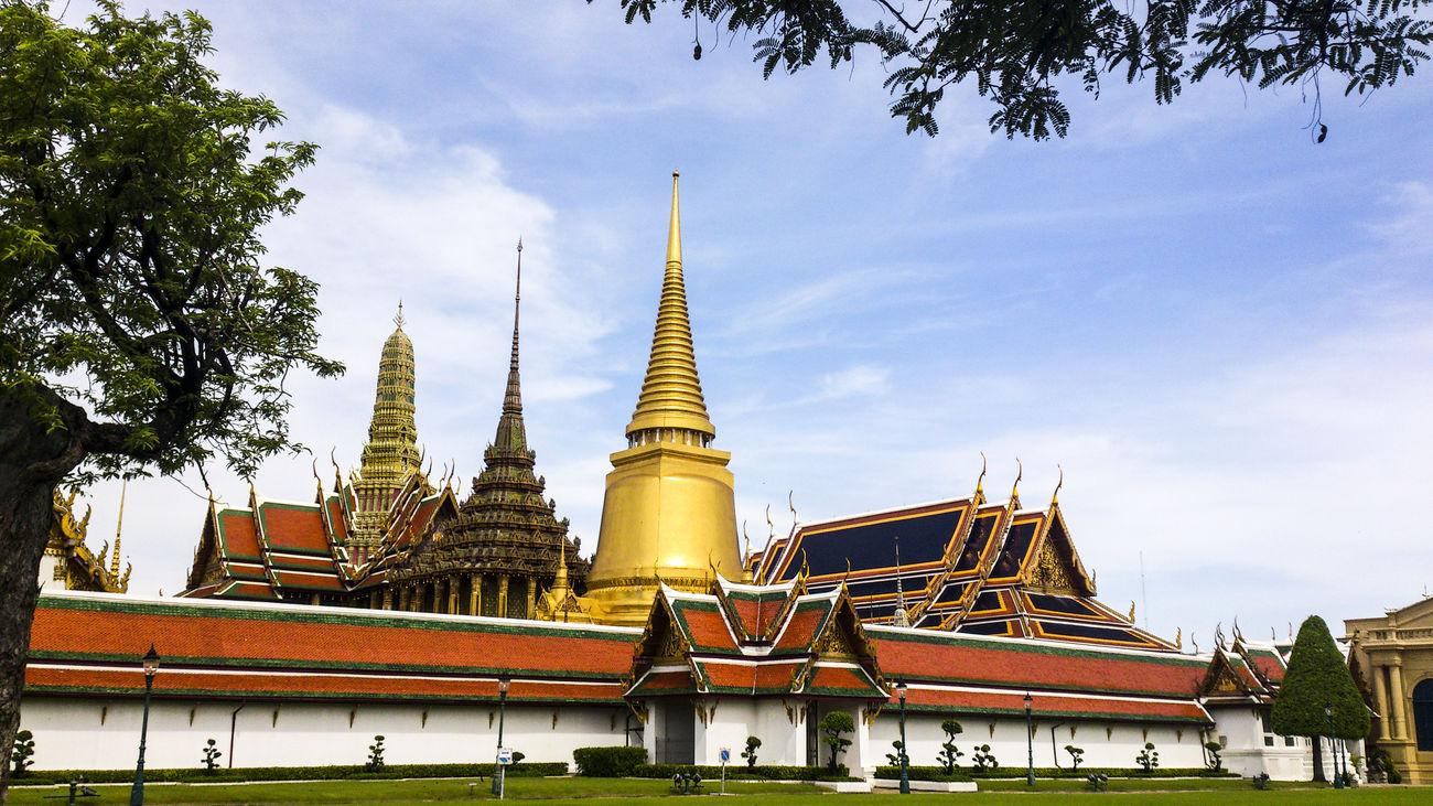 Wat Phra Kaew Architecture Built Structure Gold Grand Palace Bangkok Thailand Pagoda Religion Sky Temple Thailand Travel Destinations
