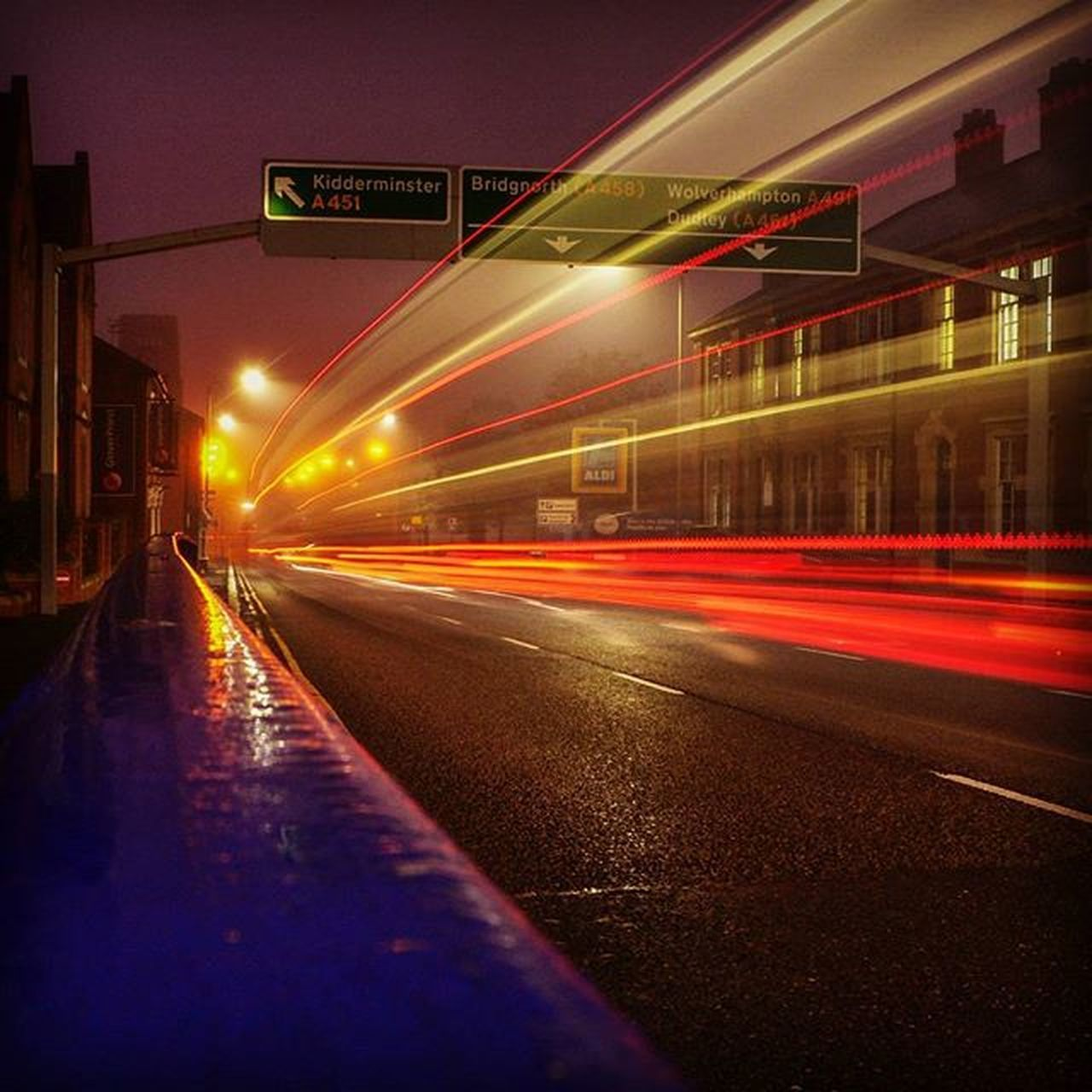 Early morning on the ring road Stourbridge Night Morning Longexposure Trail Light Lightpainting Urban Road Leica Iger Instagood Red Redlight POTD Dudley Stourbridge Leicacamera Blackcountry Westmidlands Longexposure Dawn Insta Westmidlandstravel Nationalexpress bus