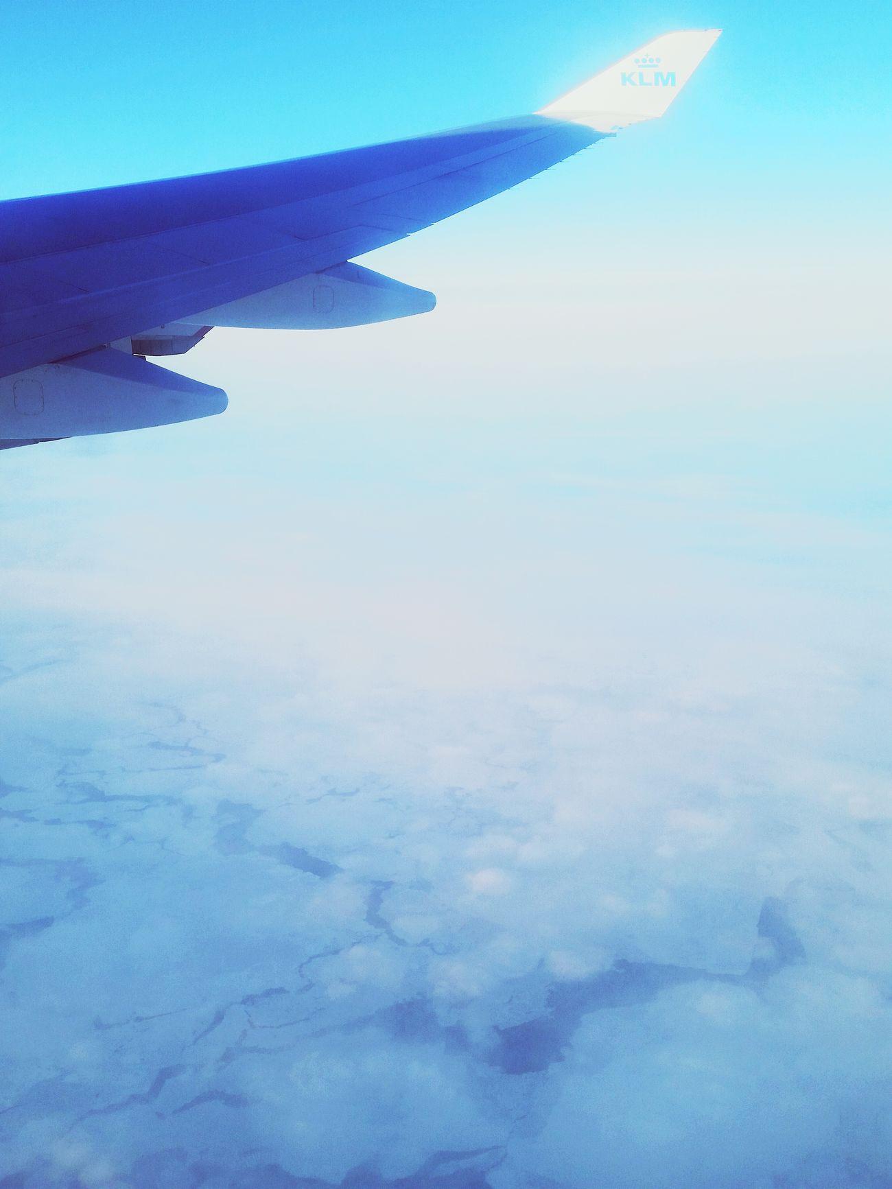 Flying Glacier Ice Groenland KLM