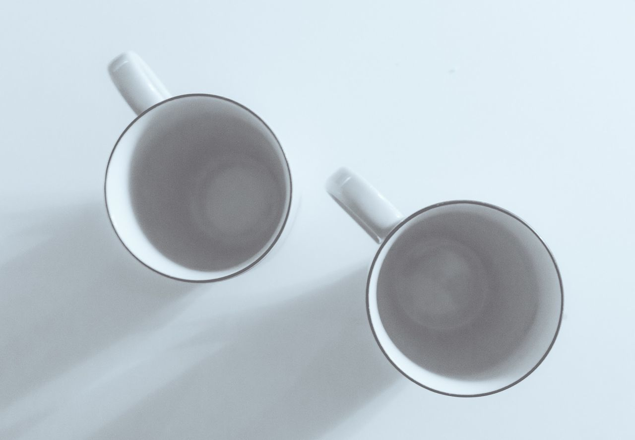 Beautiful stock photos of cup, Ceramic, Cup, Directly Above, Empty